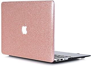 13.3インチApple Macbook Air New用プロテクター ケース,Touch IDセンサー内蔵,型番:1932 - L2Wノートパソコンアクセサリ,硬質プラスティック, ぴかぴかのPUレザーCoverカバー,ローズゴールド