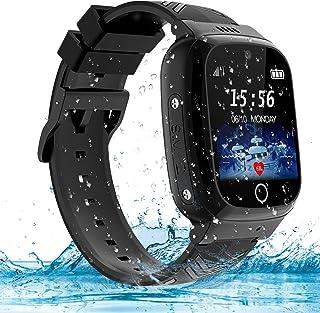 AOYMJRS Reloj Inteligente Niño, Reloj GPS Niños, Smartwatch Impermeable, Llamadas y Mensajes, Chat de Voz, SOS, Control Pa...