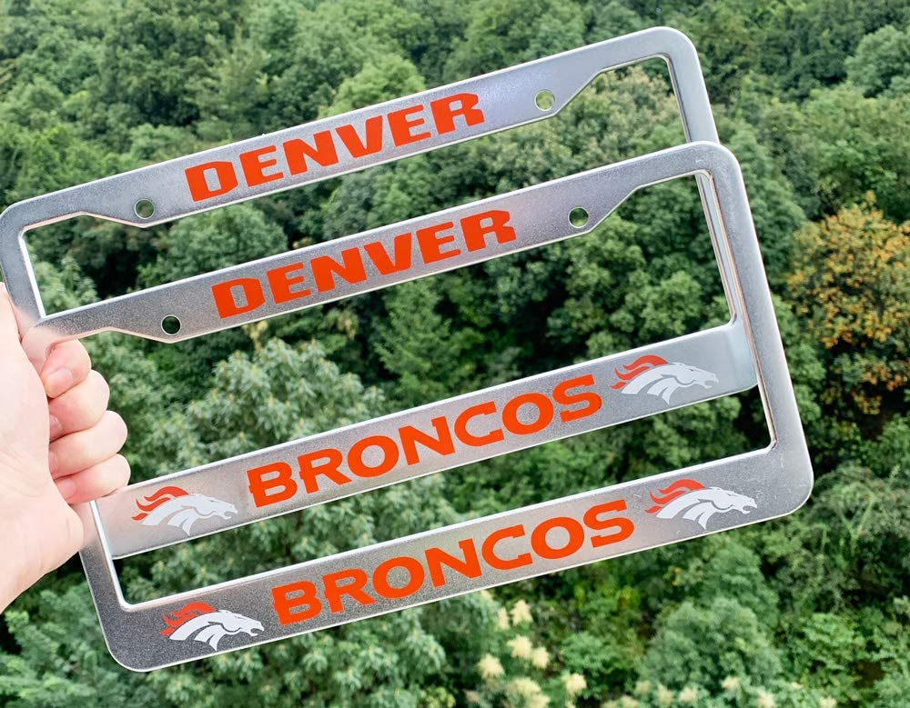 Rattle-Proof Chrome 2 Pack Bling Stainless Steel Polish Mirror Silver Dolphins License Plate Frames,Universal US Auto Dolphins Car Licenses Plate Covers Holders,Rust-Proof Weather-Proof