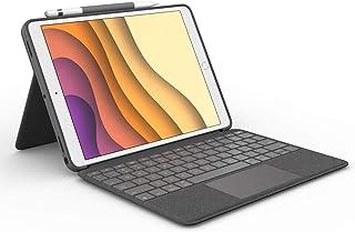Logitech Combo Touch - Funda con Teclado Retroiluminado, con Trackpad y Smart Connector para iPad Air 3a generación y iPad Pro 10.5 pulgadas Inalámbrico, color Grafito
