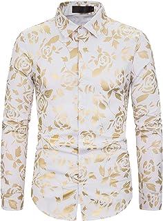 WHATLEES メンズ 長袖 シャツ カジュアル ブリットワイシャツ 大きいサイズ ビジネス スリム