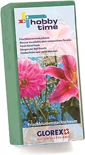 Glorex 6 3804 721 - Steckschaum für Frischblumen, saugstarke Steckmasse für Blumengestecke und Dekorationen, ca. 23 x 11 x 7,5 cm groß, grün, individuell zuschneidbar