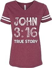 John 3: 16 Christian V-Neck Jersey Woman's T Shirt