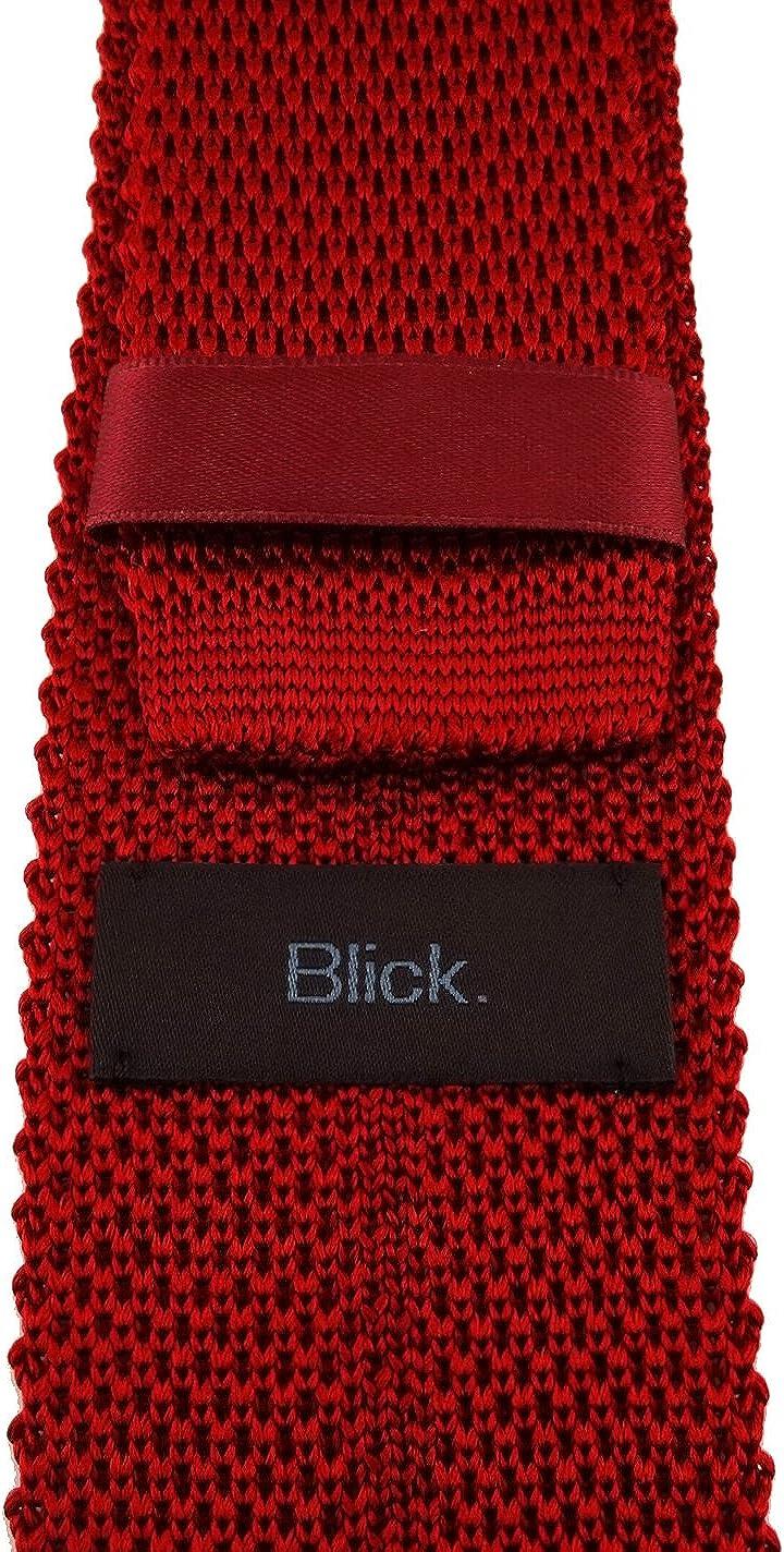 elementum Krawatte 100/% Seide Blick hochwertige Strickkrawatte in einfarbig Uni