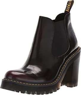 black leather heeled ankle boots uk
