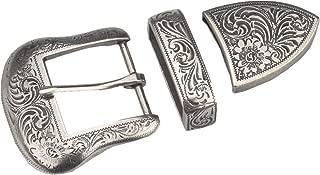 kokungkuan Men Western Cowboy Antique Silver Belt Buckle Set1.38