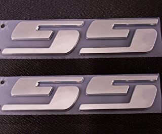 Yoaoo 2x Ss Emblems Badges Nameplates 3D Logo for Silverado Gmc Sierra 2x