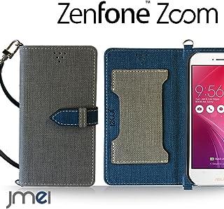Zenfone Zoom ZX551ML カバー JMEIオリジナルカルネケース VESTA グレー ASUS simフリー ゼンフォン ズーム スマホカバー スマホケース 手帳型 ケース ショルダー スリム スマートフォン