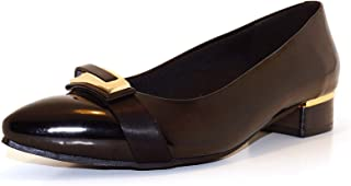 Hype Women's Bow Buckle Patent Pointed Toe Belly ZD10970 (Carol)