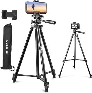 UBeesize 50 inch telefoonstatiefstandaard, aluminium lichtgewicht statief voor camera en telefoon, mobiele telefoon statie...
