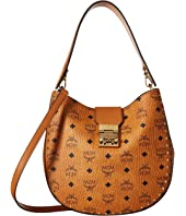 MCM - Patricia Studded Outline Visetos Hobo