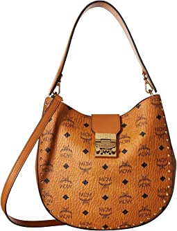 MCM Patricia Studded Outline Visetos Hobo