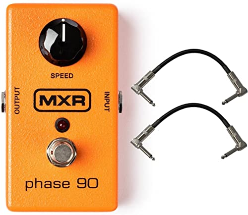"""discount New Dunlop MXR M101 Phase 90 Phaser Effects Pedal high quality outlet online sale Bundle with 6"""" Patch Cables outlet sale"""