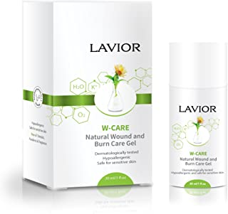 LAVIOR W-Care Natural Wound and Burn Care Gel - Antimicrobial and Anti-Inflammatory, Steroid Free, Clinically Proven Dr. Recommended, Airless Pump Bottle
