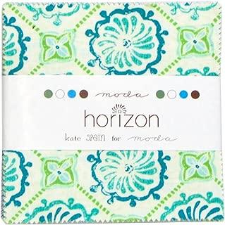 Moda Kate Spain Horizon Charm Pack, Set of 42 5x5-inch (12.7x12.7cm) Precut Cotton Fabric Squares