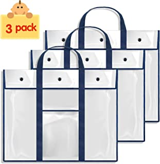 Gamenote 3 Pack Large Bulletin Board Poster Storage Bag (31.5×25.5) Teaching Material Art Portfolio Container for Classroom Organization