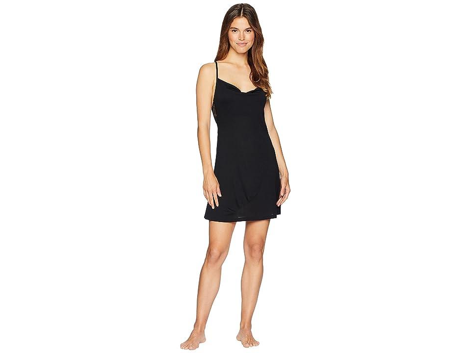 Only Hearts Venice Cowl Slip Dress (Black) Women