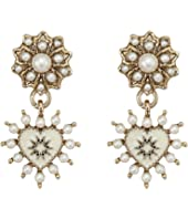 Marchesa - Small Heart Drop Earrings