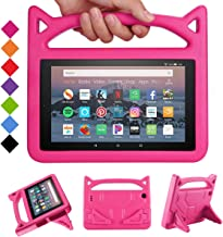 All-New Amazon Fire HD 8 Case(8th/7th/6th Generations,2018/2017/2016 Releases)-SHREBORN Light Weight Kid-Proof [Kids Friendly] Case Cover with Stand for All-New Amazon Kindle Fire HD 8 Tablet-New Rose