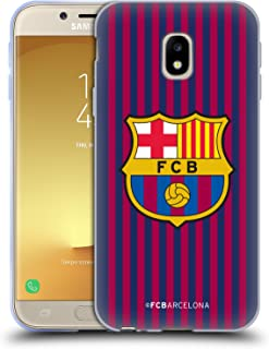 Official FC Barcelona Home 2018/19 Crest Kit Soft Gel Case Compatible for Samsung Galaxy J3 (2017)