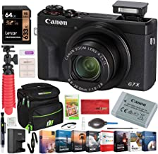$769 » Canon PowerShot G7 X Mark III 20.1MP 4K Digital Camera with 4.2X Optical Zoom Lens 24-100mm f/1.8-2.8 Black 3637C001 Bundle with Deco Gear Travel Case + 64GB Card + Compact Tripod Accessory Kit