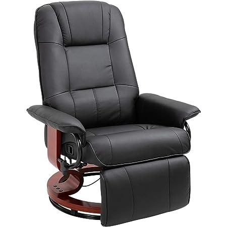 vidaXL Fauteuil Inclinable de Massage Fauteuil de Relaxation Electrique Salon Maison Repose-Pied et Appui-t/ête R/églables Taupe Tissu