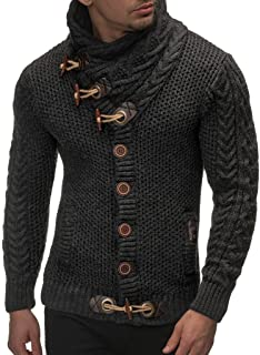 Men's Knitted Jacket Turtleneck Cardigan Winter Pullover...