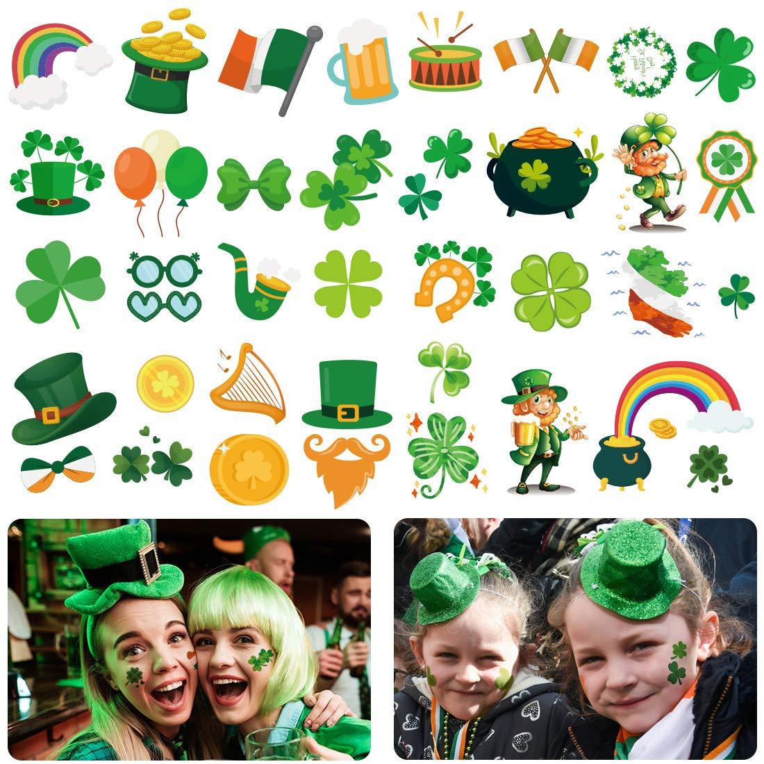 168 PCS St. Patrick's Day Shamrock Temp Stickers Tattoos It is Sales very popular