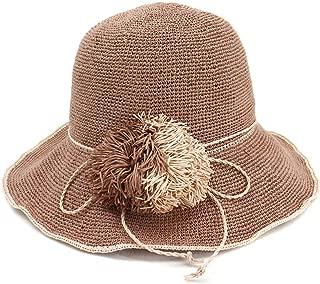 HaiNing Zheng 2019 Special Fine Crochet Women Foldable Travel Sunscreen Fisherman Hat Fine Fringed Straw Sun Hat