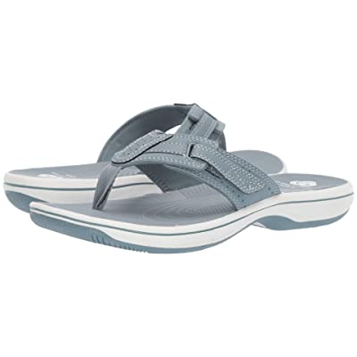 Clarks Brinkley Reef (Blue Grey Synthetic) Women