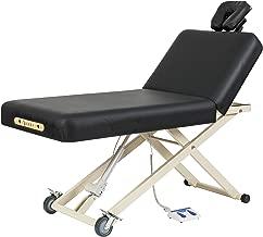 SierraComfort Adjustable Back Rest Electric Lift Massage Table, Black