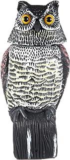 البومة ديوي 360 تدور الرأس لإخافة الطيور، تمثال البومة، الفزاعة الواقعية مخيفة والظلال البومة وهمية في الهواء الطلق ل الفن...