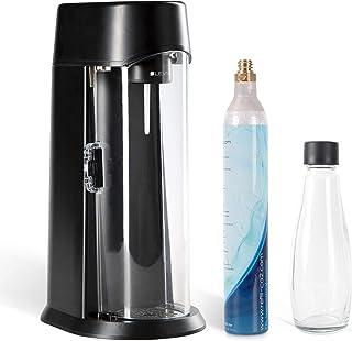 Levivo Machine à Soda WATER fournie avec bouteille en verre et cylindre de CO2, adapté pour les cylindres de CO2 0,6 l et ...