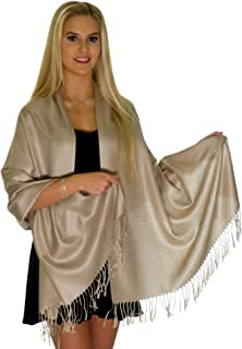 pashmina shawl with beaded fringe