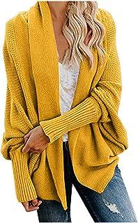 Cardigan Damen Lang Strickmantel Strickjacke Sweater Elegant Manschette Langarm Sweatshirt Langen Mantel Jacke Tops Outwea...