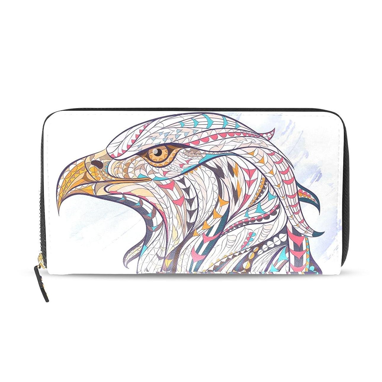 前進醜い変化AOMOKI 財布 長財布 レディース メンズ 革財布 カード たくさん入る 収納 大容量 多機能 プレゼント 鷹柄