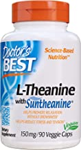 Doctor's Best L-Theanine Contains Suntheanine, Helps Reduce Stress & Sleep, Non-GMO, Gluten Free, Vegan, 150 mg 90 Veggie ...