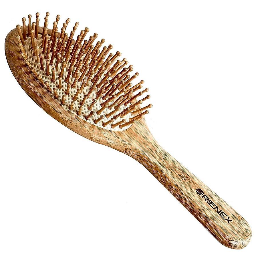 愚かと費用Orienex ヘアブラシ ヘアケア 木製 頭皮 マッサージ 艶髪 木製櫛 美髪ケア