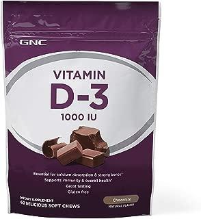 GNC Vitamin D-3 1000 IU, Chocolate, 60 Chews