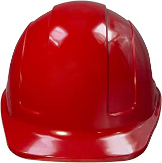 JORESTECH Safety Hard Hat Red HDPE Cap Style Helmet with 4-Point Adjustable Ratchet Suspension For Work, Home, and General Headwear Protection ANSI Z89.1-14 Compliant HHAT-01