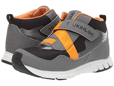 Tsukihoshi Kids Tokyo (Little Kid/Big Kid) (Gray/Orange) Boys Shoes