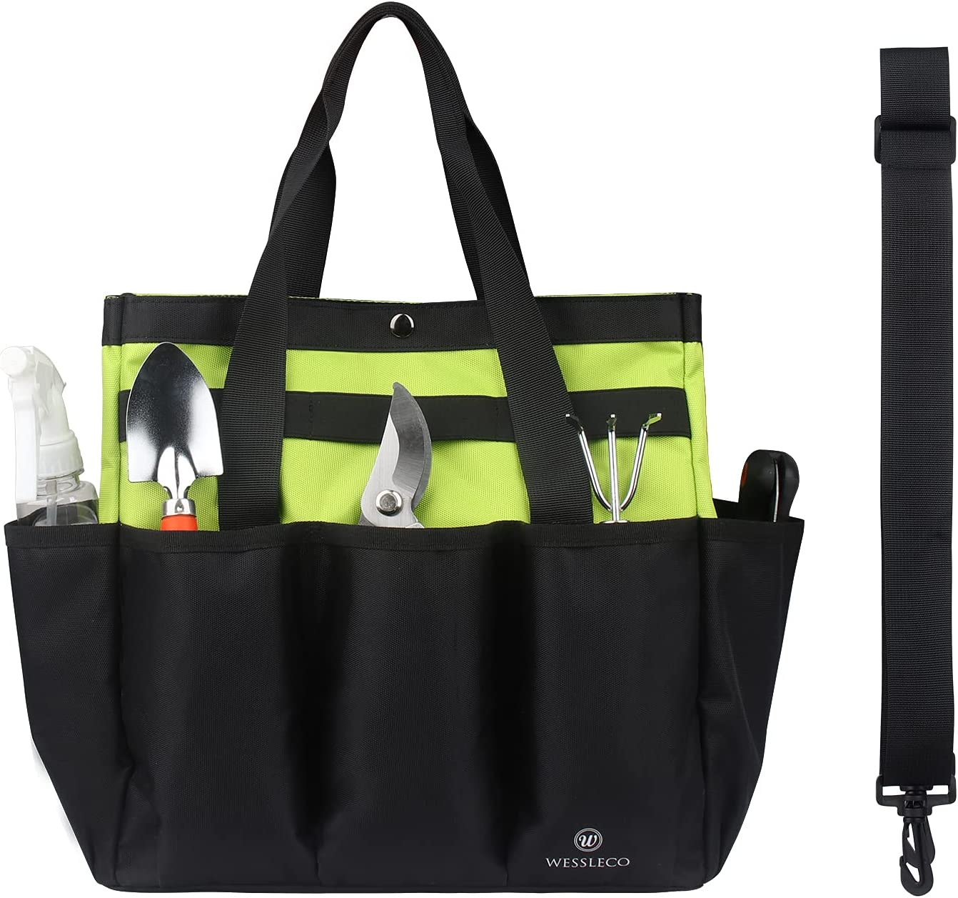 Wessleco Garden Tool Organizer,Gardening Tote Bag Storage for To