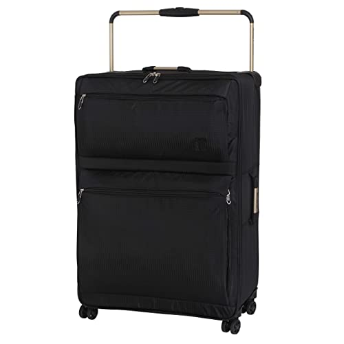 IT Luggage World's Lightest 82cm 8 Wheel Spinner Suitcase Black