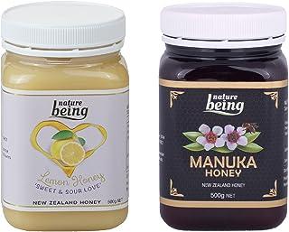 内确 新西兰原装蜂蜜2瓶装 柠檬蜂蜜500克;umf5+蜂蜜500克各一瓶