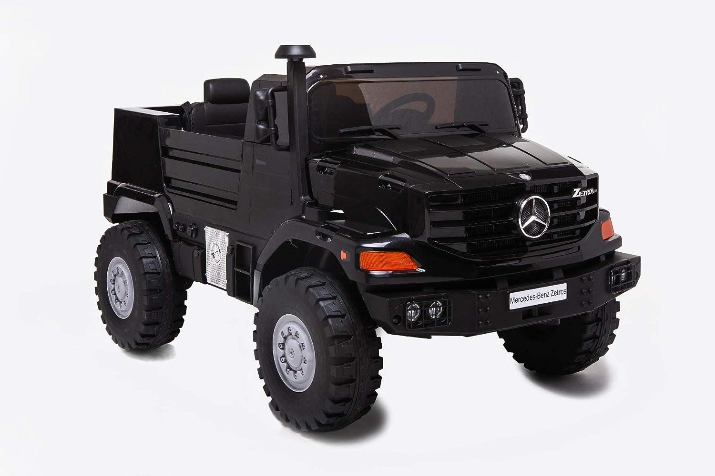 RIRICAR Electric RideOn Toy Car MercedesBenz Zetros 24V, Black, 4 Wheel suspension, 24V, 2 X 120W MOTOR, Electric brake, twoseats in leather, Soft EVA whee
