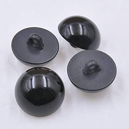 Fancy 20 Black and Yellow  Color Shank  Buttons 78 inch Plastic Lot 1345