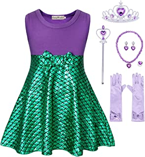 HenzWorld Little Girls Costume Dress Princess Birthday Party Cosplay Sequins Accessories 1-12 Years