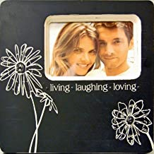 Haven X523-74 Embellished Sentimental Elegance Frame, Living Laughing Loving