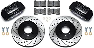 Wilwood 140-12996-D Brake Kit with Drilled Rotors, Black, Front