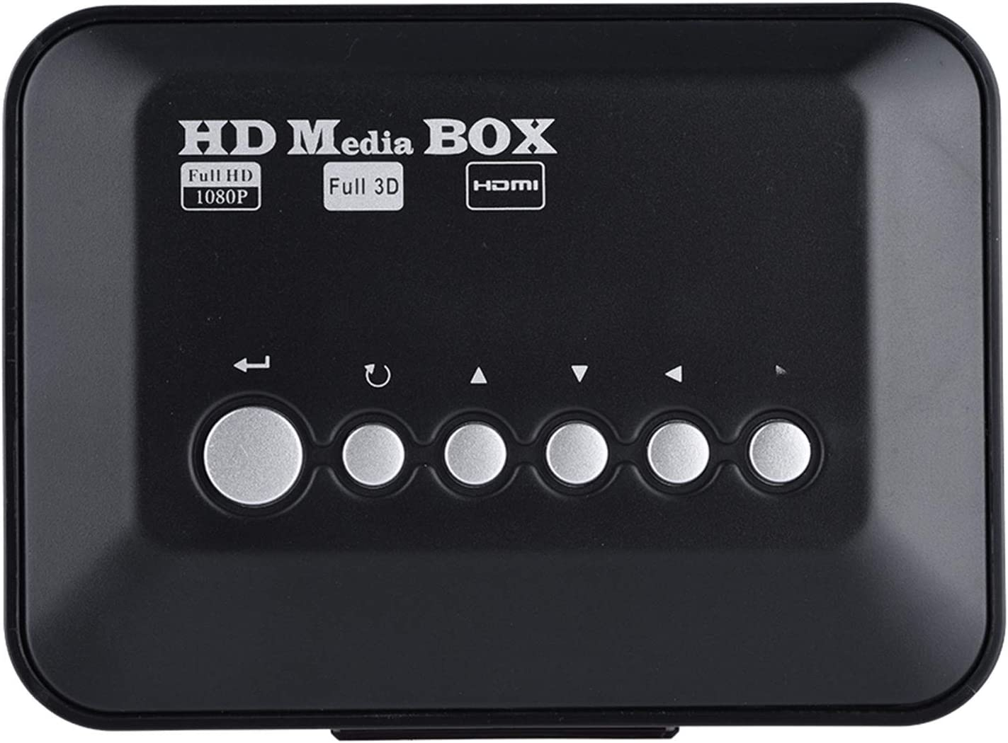 Aoutecen Media Player, Audio Video Media Player Box Support RM/RMVB 110V-240V () Audio Video Player 1080P with IR Remote Control for USB Drives for Cards(European regulations)